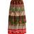 Tiered patchwork-print silk-plissé midi skirt
