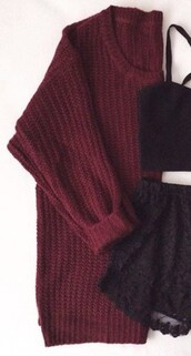 sweater,red,burgundy,burgundy sweater,knitwear,knitted sweater,oversized cardigan,oversized