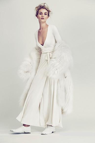rosie huntington-whiteley dress wrap dress white dress