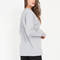 Easy does it oversized long-sleeve top white black hgrey - gojane.com
