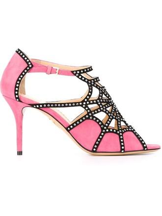 sandals purple pink shoes