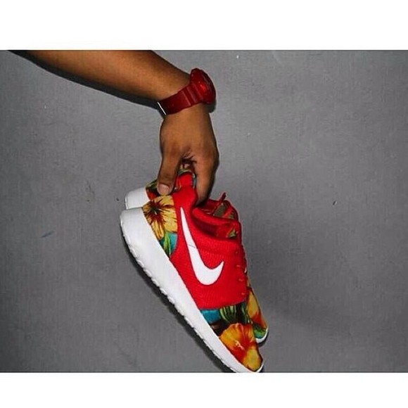 floral shoes orange hawaiian print nike roshe run nike shoes womens roshe runs womens nike roshe runs roshe runs roshes nike floral