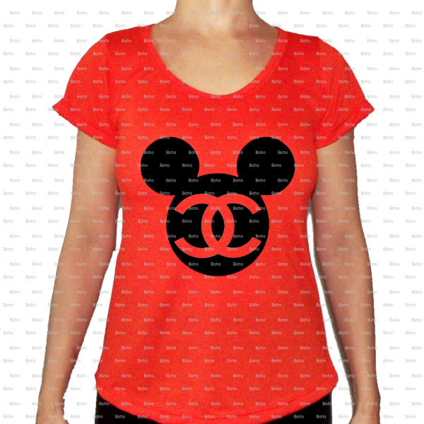 chanel t shirt mickey mouse