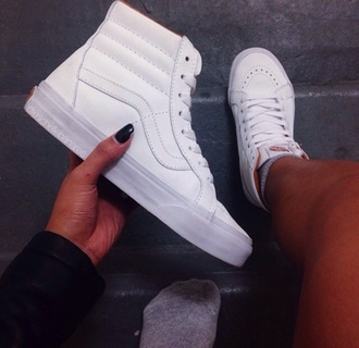 shoes white vans sneakers