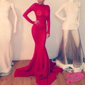 dress red carpet dress red dress red prom dress long sleeve dress open back dresses