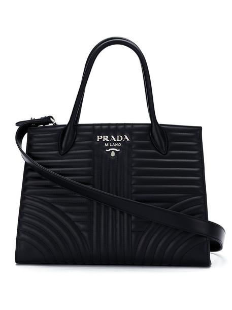 Prada women leather black bag