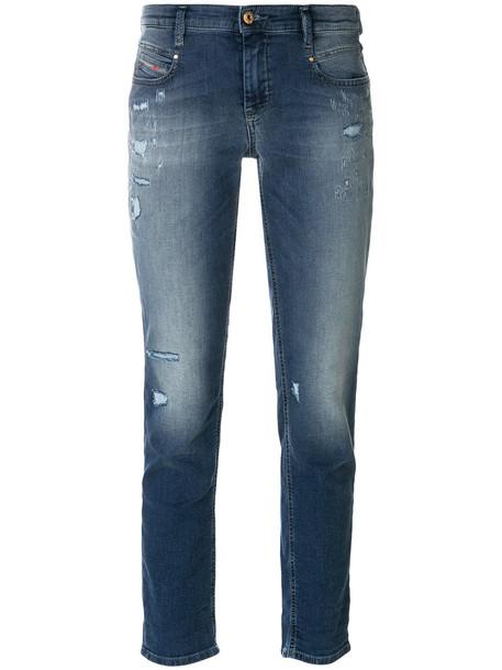 Diesel jeans skinny jeans women spandex 23 cotton blue