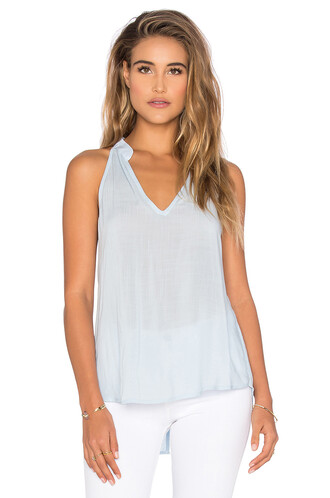 top halter top back blue