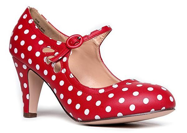 4e9708aac07 shoes vintageshoes polkashoes polka dots polkadotshoes Pin up Pin up pinup  shoes pinup heels pin-