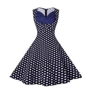 dress vintage dress audrey hepburn black dress polka dots 50s style midi dress