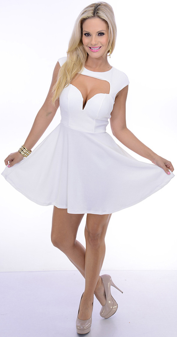 You tell Sexy white cut out dresses