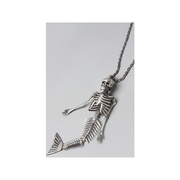 nOir:The Pirates Of The Caribbean Mermaid Sketeton Necklace,... - Polyvore