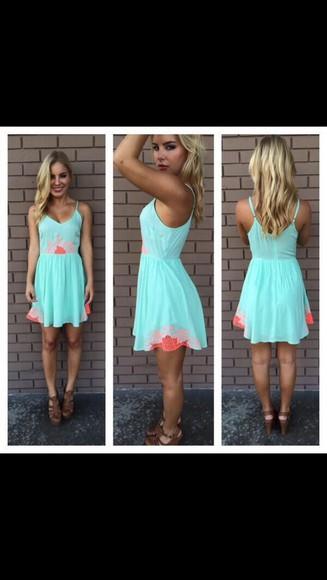sundress blue dress cute
