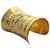 Long Wide Polished Gold Cuff Arm Bracelet Flower Vines Design Squeeze S1 | eBay