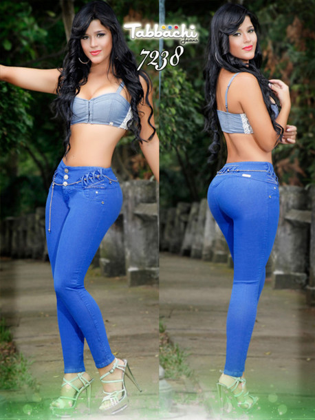 16fafe14e jeans colombian jeans royal blue jeans tabbachi butt lifting jeans blue  skinny jeans yallure yallure.