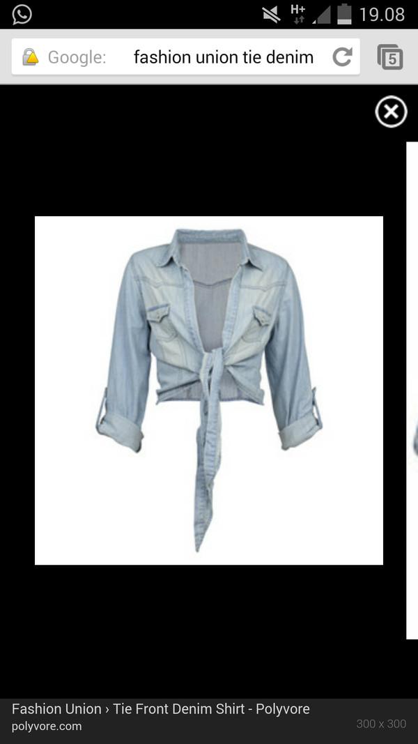 jacket denim jeanjacket jeans tie front tie blue blouse coat