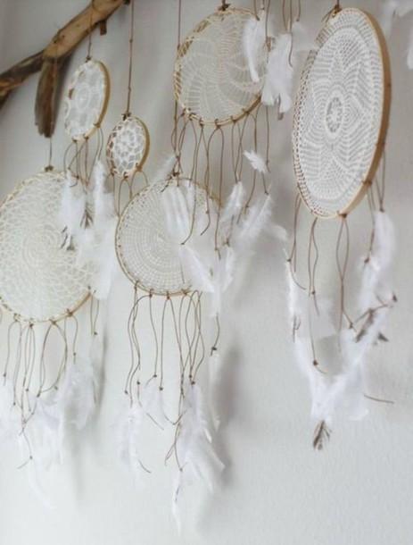 Home accessory beach house dreamcatcher boho white