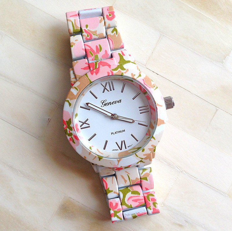 New fashion floral flower geneva watch garden beauty bracelet watch women dress watches quartz wristwatch watches aw sb 1128