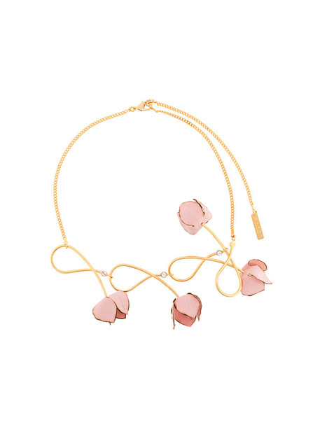 MARNI women necklace floral purple pink jewels
