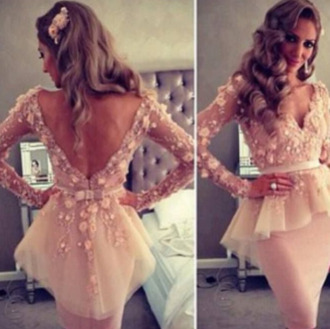 dress prom dress short dress short prom dress underwear blush pink peplum long sleeves floral blouse pink floral peplum prom beige dress lace dress