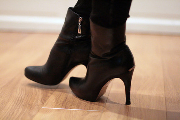 shoes wood boots high heels leather fashion zips side zip style