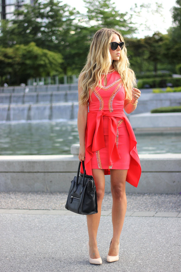 a fashion love affair dress jewels jacket bag shoes