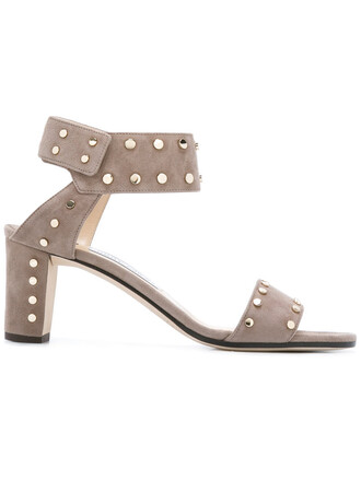 metal women sandals leather nude suede shoes