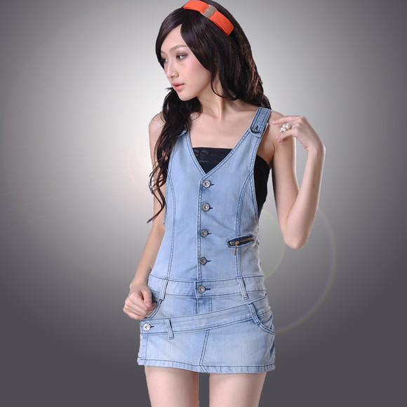 denim dress light wash overalls buttons zipper short skirt skirt skort jean overalls coveralls button up jean coveralls
