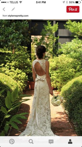 dress backless lace wedding dress