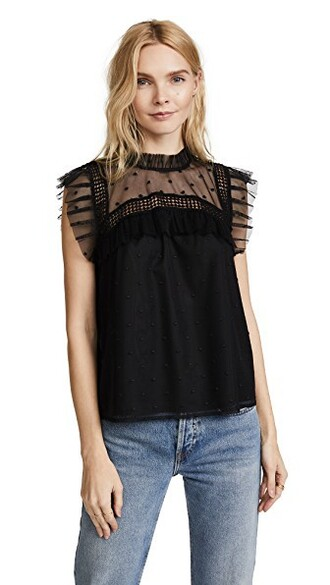 blouse victorian black top