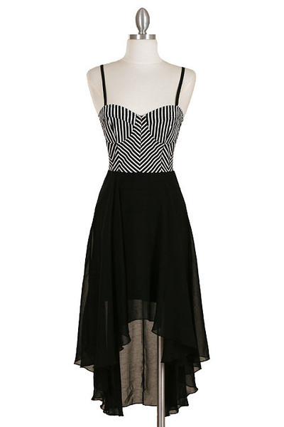 MONOCHROME HI LO DRESS