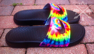 shoes tie dye slide shoes nike nike shoes
