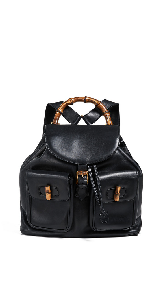 What Goes Around Comes Around Gucci Large Backpack in black
