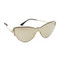 Versace greca strass all lens mirrored sunglasses - gold/gold