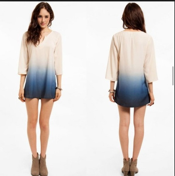 dress style ombre bleach dye short dress