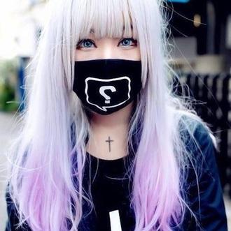 hair accessory pastel goth wig pastel wig