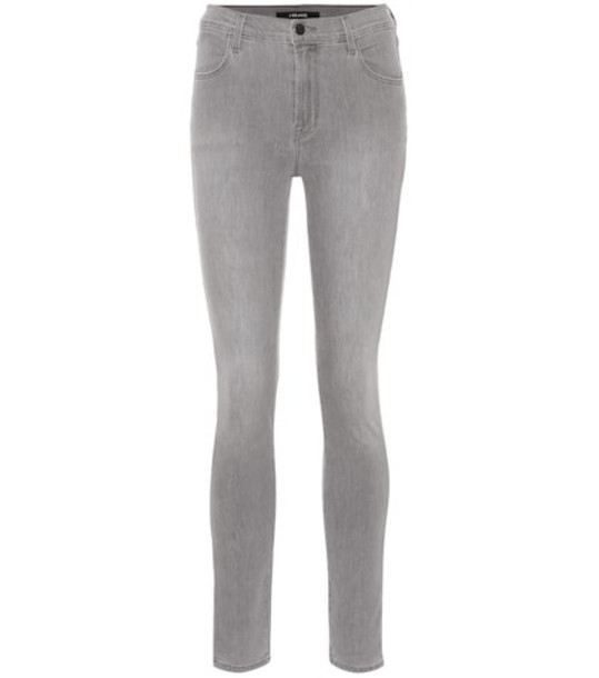 J Brand Maria high-rise skinny jeans in grey