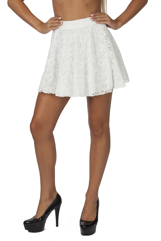 Hollywood star fashion women's lace circle cotton mini skirt at amazon women's clothing store: