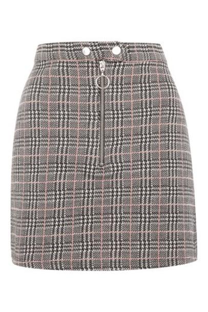 Topshop skirt zip monochrome