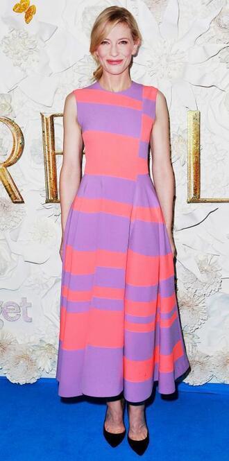 dress maxi dress cate blanchett stripes striped dress