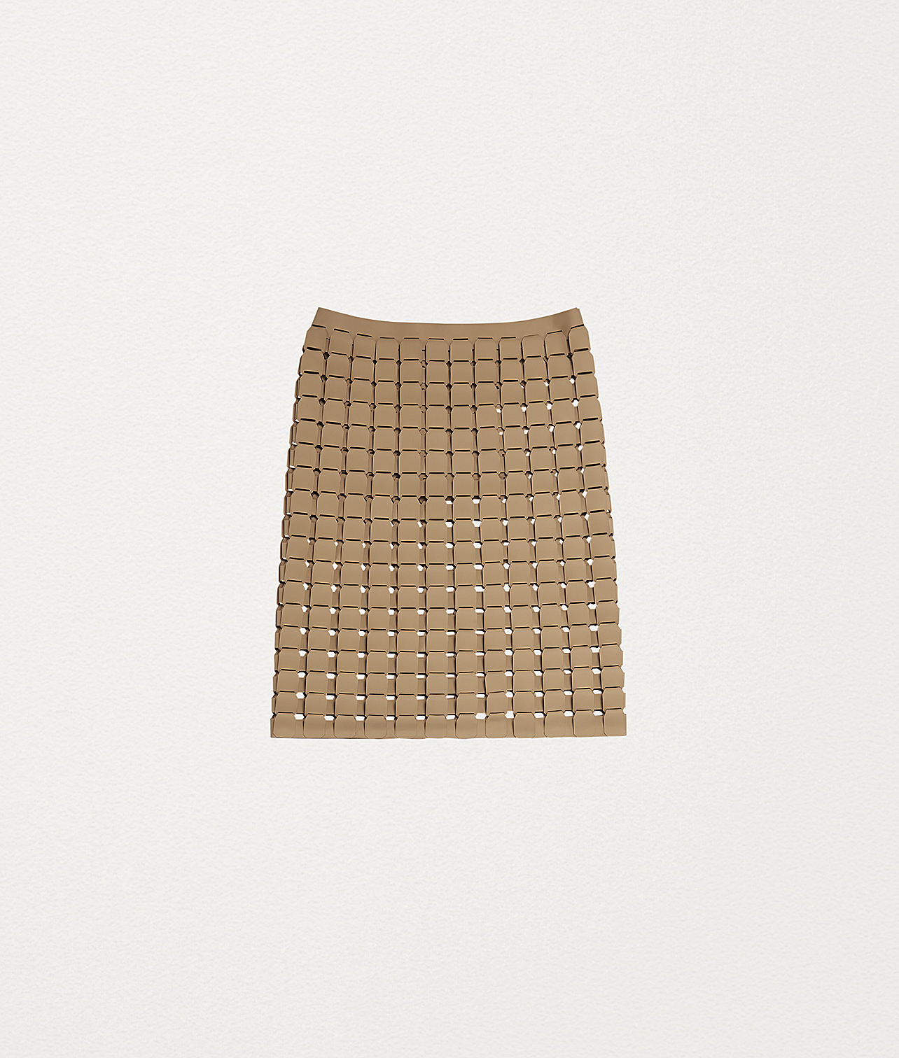 Bottega Veneta® - SKIRT IN RUBBER SATINÉ