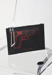 bag,gun,clutch,black,black clutch