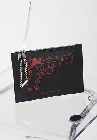 bag gun clutch black black clutch