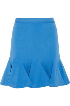 Carven Flared stretch-cotton mini skirt  - 60% Off Now at THE OUTNET