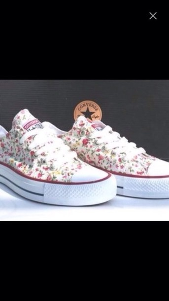 shoes chuck taylor all stars flowers