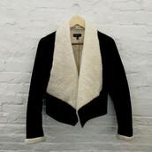 jacket,sylvi label,coat,black jacket,winter jacket,faux fur jacket