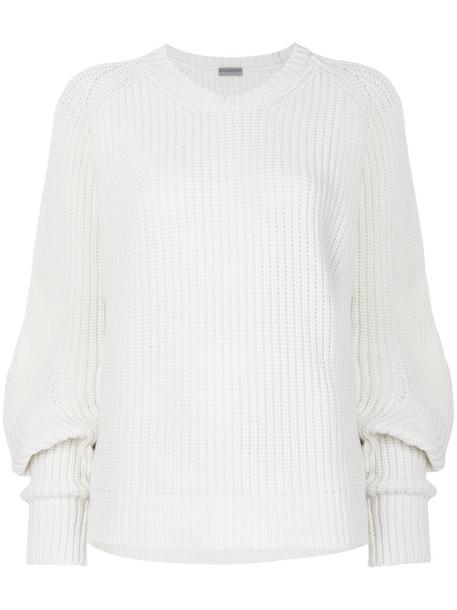 MRZ jumper women white wool sweater