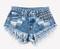 450 acid studded babe shorts
