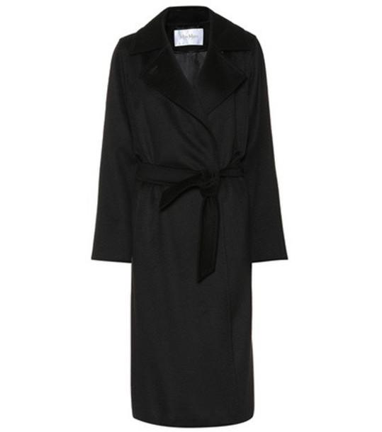 Max Mara Manuel Icon camel hair coat in black