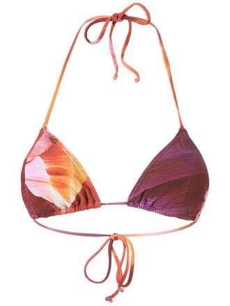 bikini bikini top triangle bikini triangle women purple swimwear